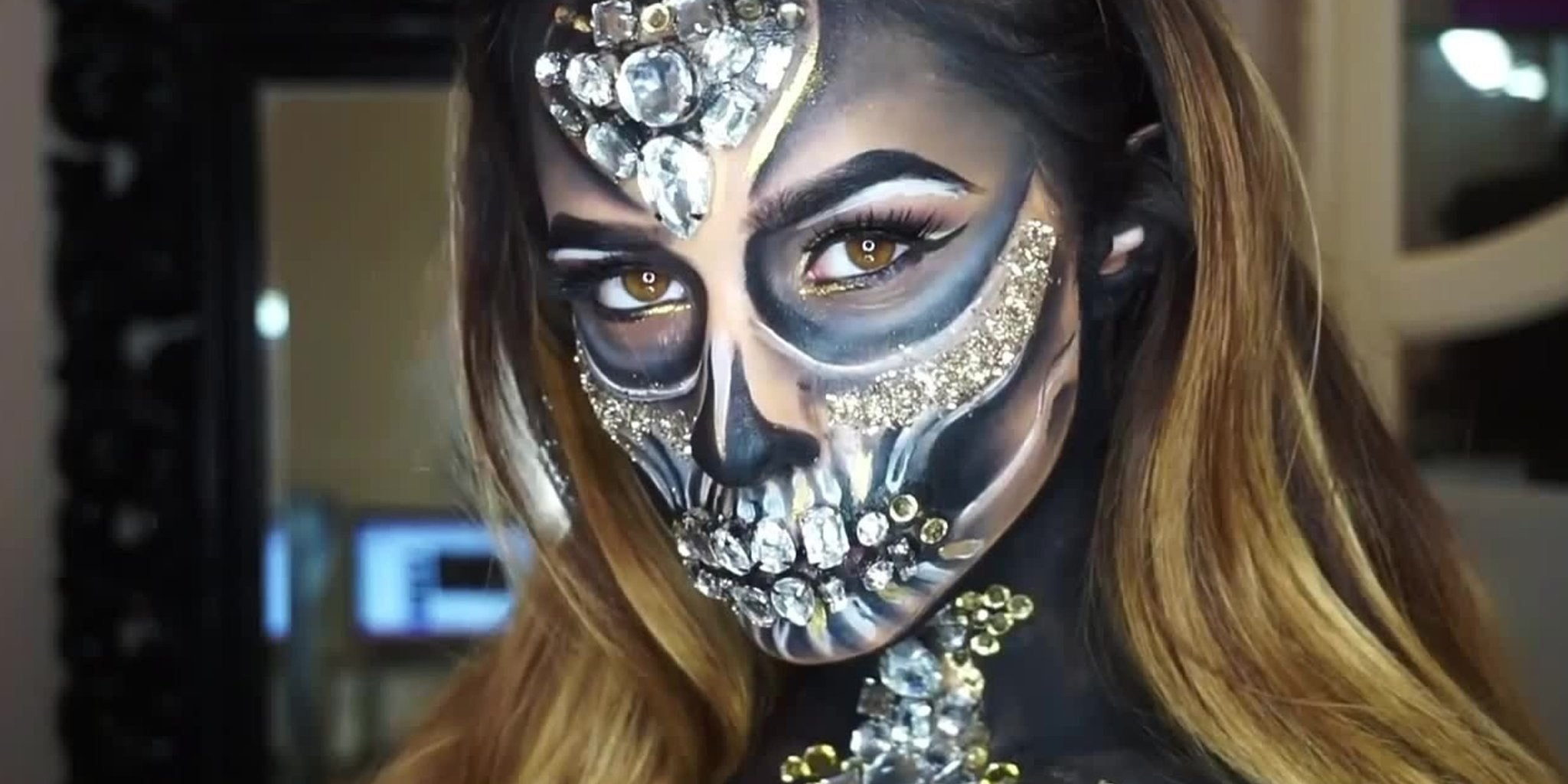 Easy Sugar Skull Makeup Look Inspired by Mexico's Day of the Dead photo