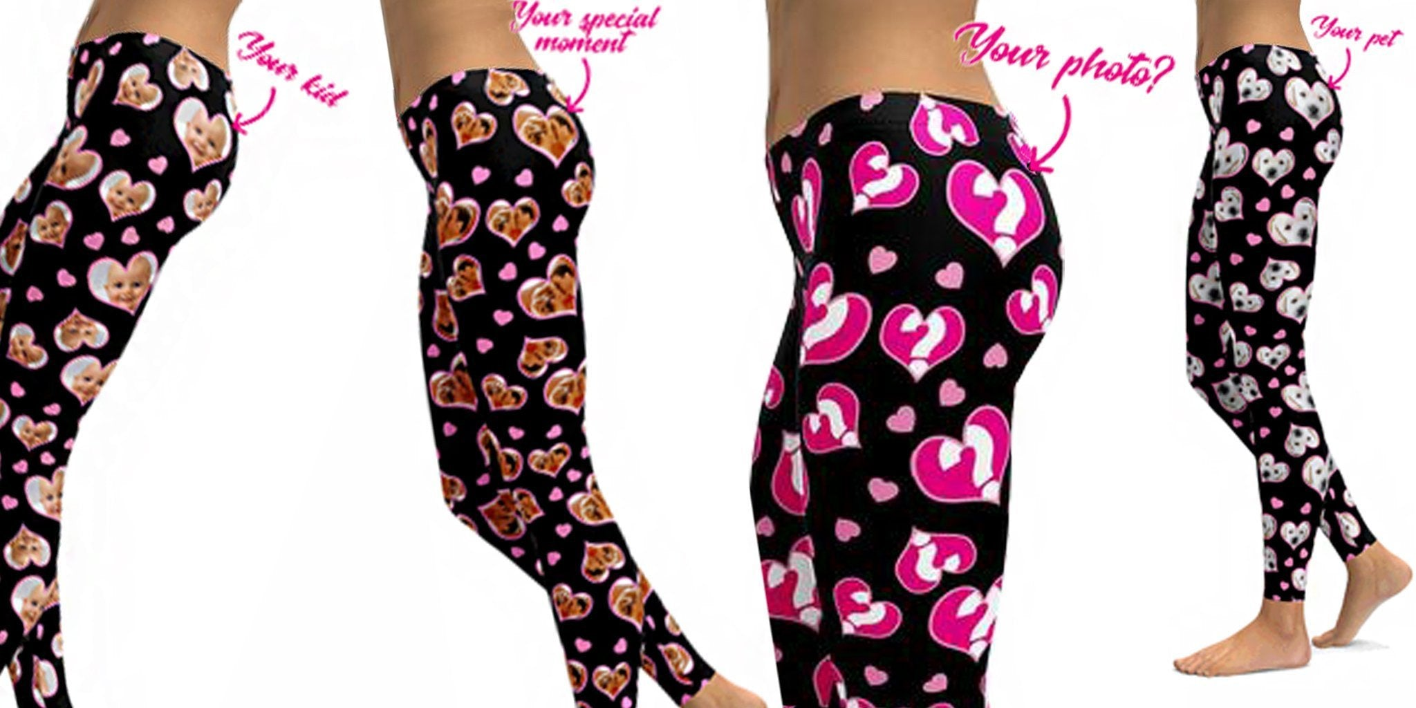 Stuck On a Christmas Gift for a Special Person? Get Personal with a Pair of Lovable Heart Leggings