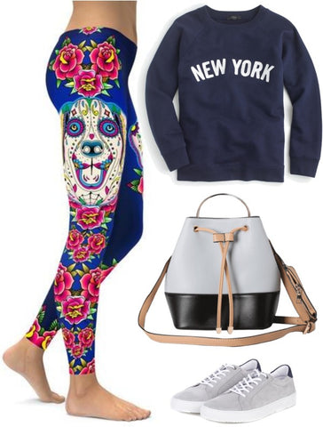 c63393ae483fa They make the ideal combo with our Sugar Skull Labrador Leggings and simple  sneakers.