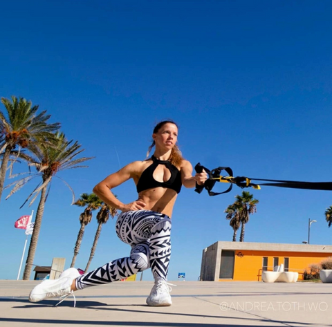 Gearbunch Custom hand-made Squat Proof bottoms with Andrea Toth Workouts