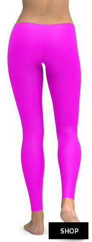 SOLID HOT PINK LEGGINGS