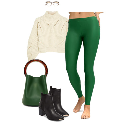 26daca909ebcf ... leggings, you're missing out. Mixing same shades of one color to make St.  Patrick's Day outfit look chic is fun trick you'll keep trying all season.
