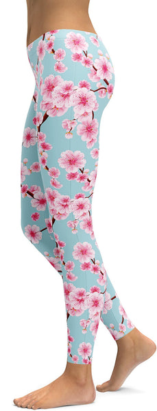 Japanese Cherry Blossom Leggings