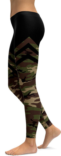 Camo & Black Thigh High Stocking Leggings