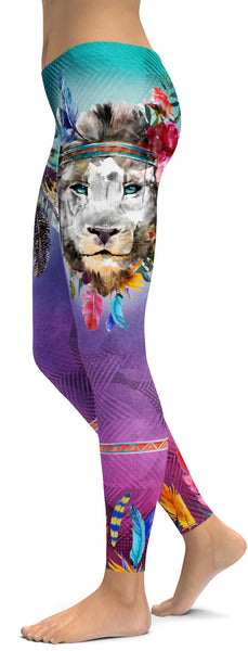 Watercolor Lion Leggings