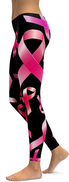 Pink Ribbon Awareness Leggings