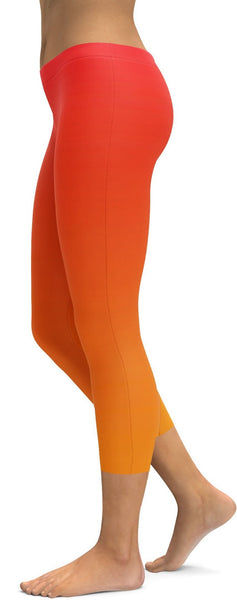 Ombre Hot Orange Capris