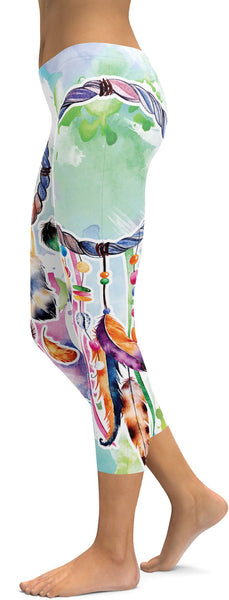 Watercolor Dreamcatcher Capris