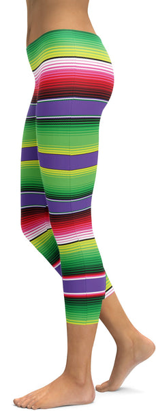 Colorful Mexican Serape Capris