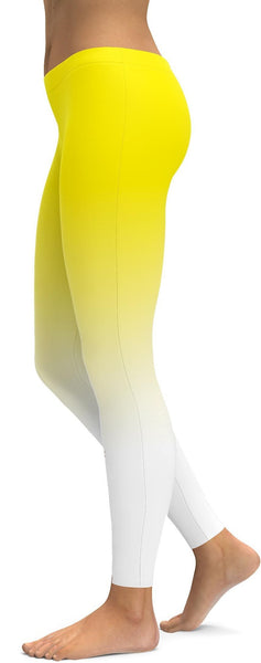 Ombre Yellow to White Leggings