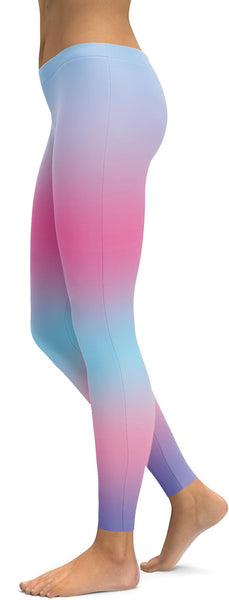 Rainbow Pastel Blue & Pink Leggings