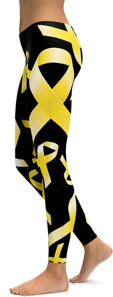 Yellow Ribbon Awareness Leggings