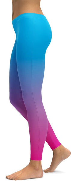Ombre Blue to Pink Leggings