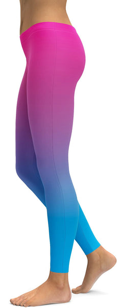 Ombre Pink to Blue Leggings
