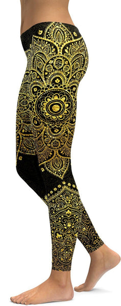 Faux Golden Mandala leggings