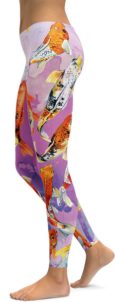 Watercolor Koi Fish Leggings