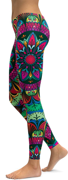 Colorful Pink Mandala Leggings
