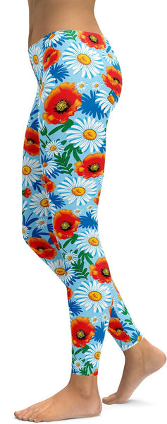 Poppy & Daisy Floral Leggings