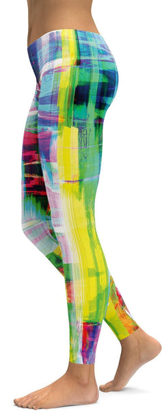 Bright Neon Rave Leggings