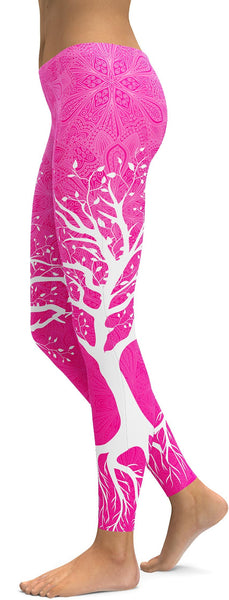Hot Pink Tree of Life Leggings