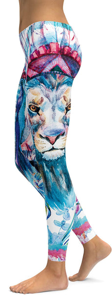 Watercolor King of Summer Leggings