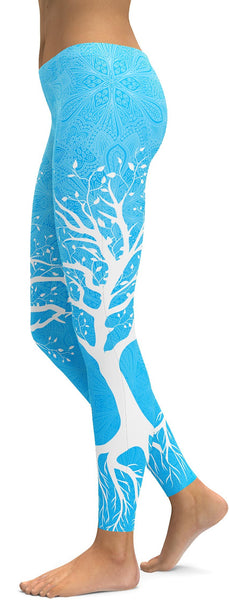 Sky Blue Tree of Life Leggings
