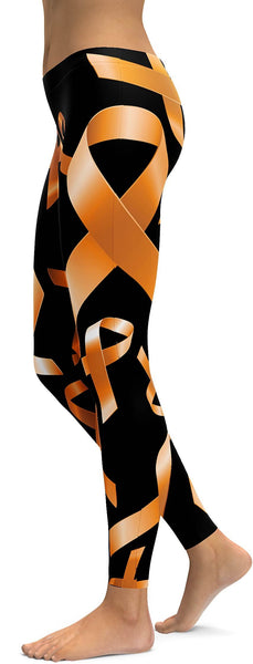 Orange Ribbon Awareness Leggings