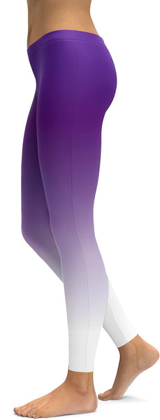Ombre Purple to White Leggings