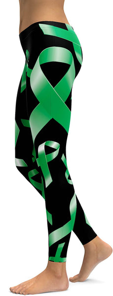 Green Ribbon Awareness Leggings