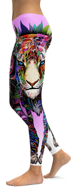 Colorful Full Lion Leggings