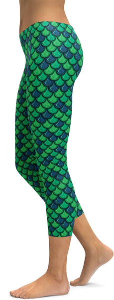 Green Mermaid Capris