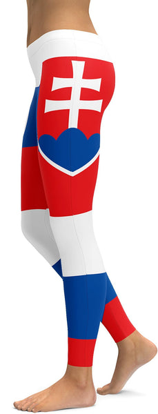 Slovakian Flag Leggings