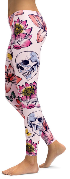 Skulls & Lotus Leggings