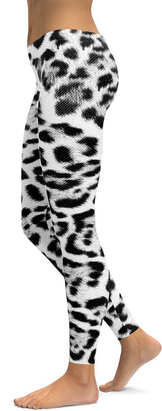 Snow Leopard Skin Leggings