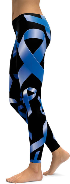 Blue Ribbon Awareness Leggings