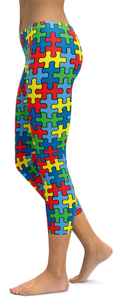 Autism Awareness Ribbon Capris