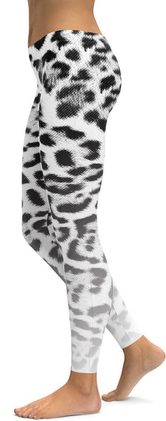 Ombre Snow Leopard Skin Leggings