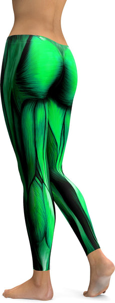 Superhero Green Muscles Leggings