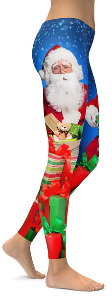 9c55531177d2c4 ... Santa & Presents Christmas Leggings - GearBunch Leggings / Yoga Pants  ...