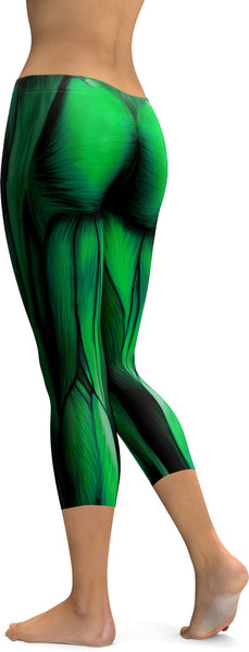 Superhero Green Muscles Capris