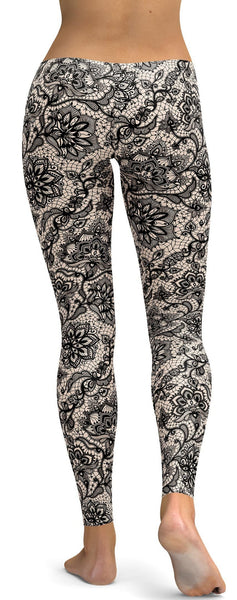 Black Faux Lace Leggings