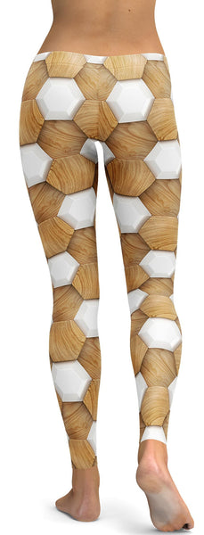 3D Wood Pattern Leggings