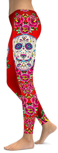 Sugar Skull Beagle Leggings