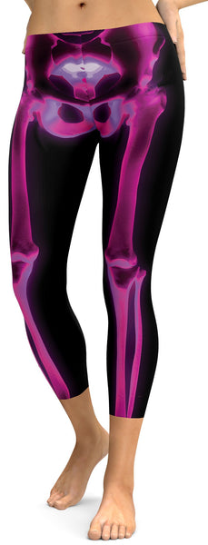 Pink X-ray Skeleton Capris