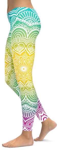 Bright Sun Mandala Leggings