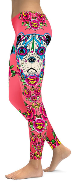 Sugar Skull Boxer Leggings