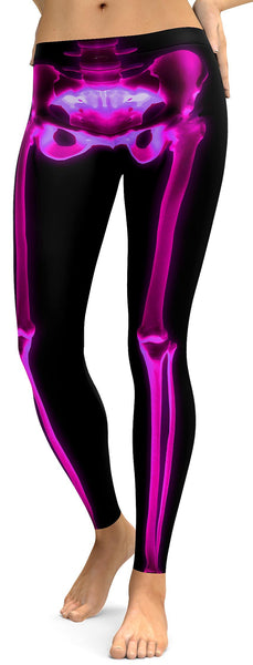 Pink X-ray Skeleton Leggings