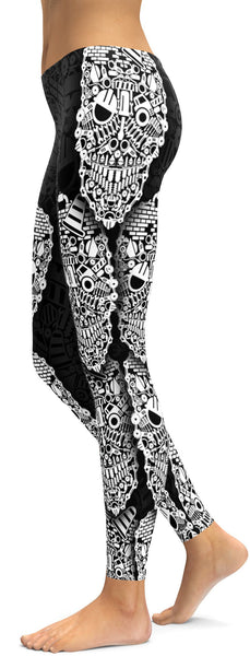Construction Skull Leggings