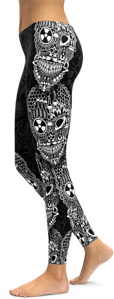 Science Skull Leggings