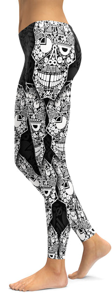 Math Skull Leggings